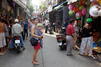 Exploring the streets of Saigon