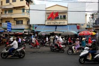 Outside the Cho Vuon Chuoc Market