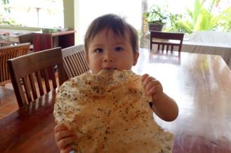 Rice cracker - yum!