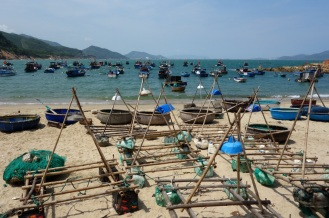 The other beach front, covered in fishing boats