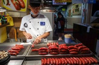 Mmmm Taiwanese sausages on a stick