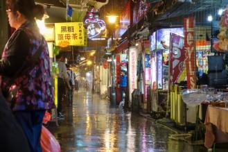Heavy rainfall...glad we were under a tarp. If only we had umbrellas...