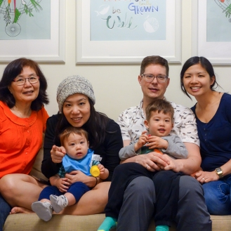 Chan Family Photo in our Airbnb apartment