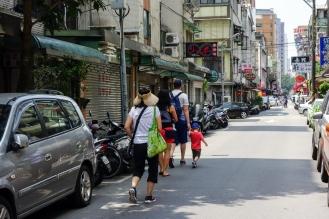 Walking the Tonghua neighbourhood in Taipei