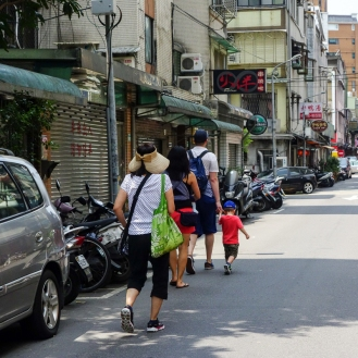 Walking the Tonghua neighbourhood in Taipei