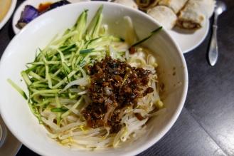 Hand cut noodles