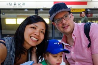 Family shot in the MRT