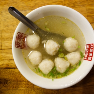 Fish ball soup!