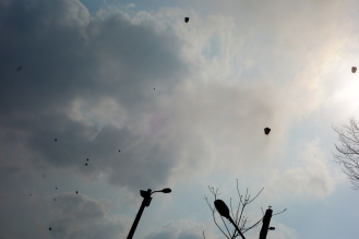 Lanterns up in the sky