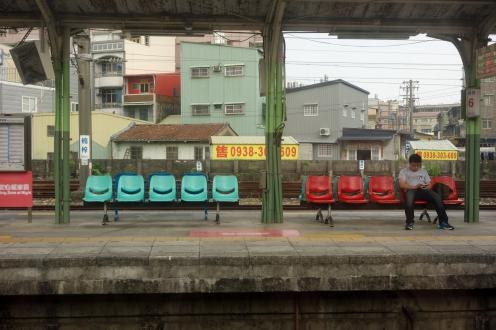 En route to Kaoshiung on the commuter train