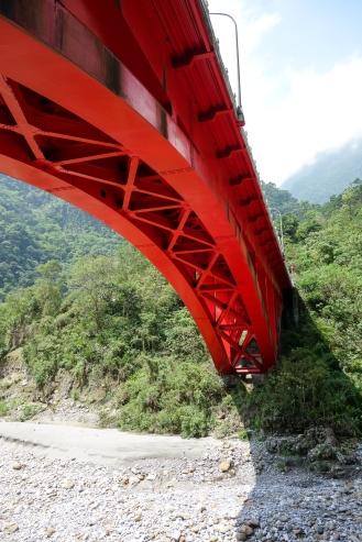 Beautiful red bridge