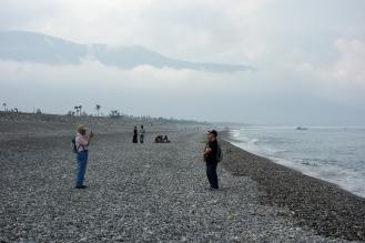 Other tourists enjoying the beach