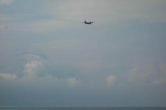 Fighter jets above