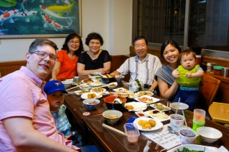 Japanese dinner with Mr and Mrs Huang
