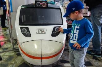 Miniature train at the train station